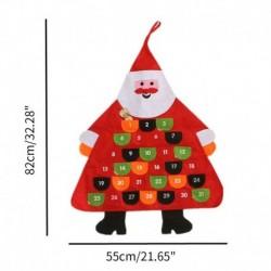 Mikulás - Karácsonyi adventi naptárfa függő karácsonyi zseb visszaszámláló kijelző dekoráció