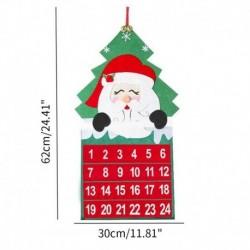 Mikulás és a fa - Karácsonyi adventi naptárfa függő karácsonyi zseb visszaszámláló kijelző dekoráció