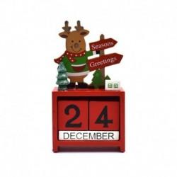 piros - Karácsonyi téma 2020 naptárak visszaszámlálása blokkolja a fa szarvas naptárát