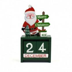 zöld - Karácsonyi téma 2020 naptárak visszaszámlálása blokkolja a fa szarvas naptárát