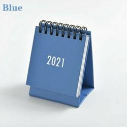Kék - 2021 Egyszerű fekete-fehér szürke sorozatú asztali naptár kettős napi menetrend USA
