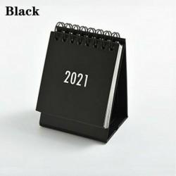 Fekete - 2021 Egyszerű fekete-fehér szürke sorozatú asztali naptár kettős napi menetrend USA