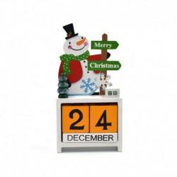 fehér - Karácsonyi téma naptár visszaszámlálás blokkolja a fa szarvas naptárak otthoni díszét