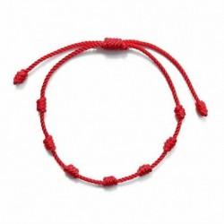 Nincs szín - Szerencsés piros húrkarkötő Kabbala Amulett 7 csomóvédő kötél ember női ajándék