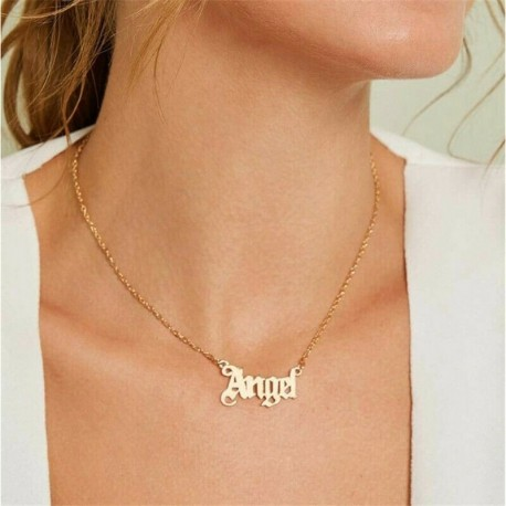 * 1 Arany Szögű Betűk Nyaklánc - Női Boho többrétegű choker hosszú lánc állítás nyaklánc medál ékszer ajándék