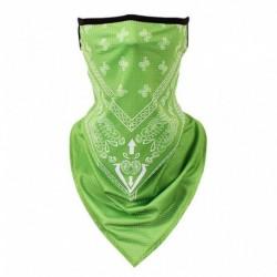 Zöld - Motorkerékpár kerékpár pillangó Bandana cső fej sál nyak póló arcvédő