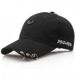 Fekete - Baseball sapka szárnyak Kpop Bangtan Boys Iron Ring Snapback Sun Hat sapka divat