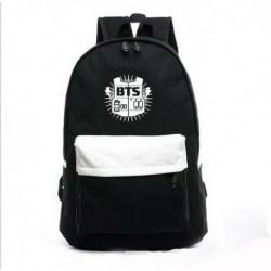 Fekete - My Love Fashion BTS hátizsák KPOP Bangtan Boys iskolatáska Satchel diákkönyvtáska
