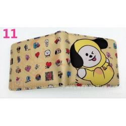 BTS 11 - Sok BTS rövid pénztárca érme pénztárca Bangtan Boys színes pénztárca fiúk lányok ajándék