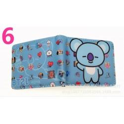 BTS 6 - Sok BTS rövid pénztárca érme pénztárca Bangtan Boys színes pénztárca fiúk lányok ajándék