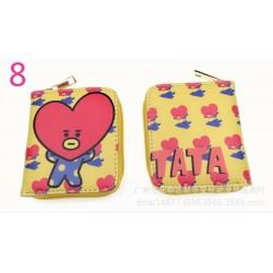 Rövid cipzáras pénztárca 8 - Sok BTS rövid pénztárca érme pénztárca Bangtan Boys színes pénztárca fiúk lányok