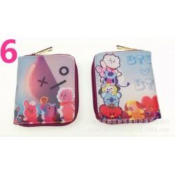 Cipzáros rövid pénztárca 6 - Sok BTS rövid pénztárca érme pénztárca Bangtan Boys színes pénztárca fiúk lányok