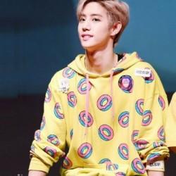 M - KPOP EXO GOT7 Just Right Mark Jackson Hoodie Bangtan Boys Cute Donut