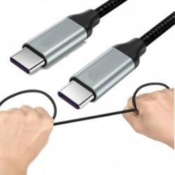 1PACK / PCS - 2Pack C-típusú USB-C 3.1 töltőkábel dugó-dugó MacBook Super Speed 3A-hoz