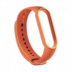 narancs - Karkötő Xiaomi Mi Band 5 sportpántos órához szilikon csukló intelligens kiegészítők