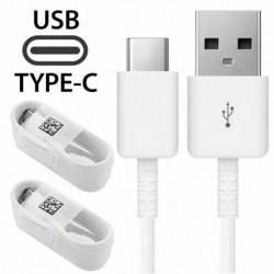 2X fehér Type-C kábel - 1 / 5X USB-kábel, C típusú töltőkábel Samsung Galaxy A8   S9 S8 plus   8. megjegyzéshez 9