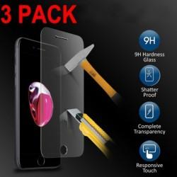 iPhone SE (3 csomag) - Új prémium valódi edzett üveg filmvédő fólia iPhone X 8 7 6 Plus SE készülékhez