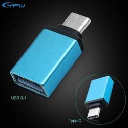 Kék - USB 3.0 hüvely - USB 3.1 C típusú férfi átalakító USB-C OTG adapter
