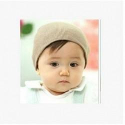 Khaki - Baby Mézze Beanie Junge Médchen Kleinkind Csecsemő Baumwolle weichen Unisex Hut