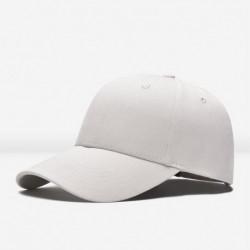 fehér - Unisex stílusos üres sima snapback sapka hip-hop állítható bboy baseball sapka