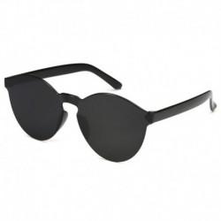 Fekete - Candy átlátszó női napszemüveg szemüveg lencse műanyag színes férfi kerek darab