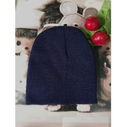Sötétkék - Baby Cap Beanie Boys Girls tipegő csecsemő gyermekek pamut puha aranyos unisex kalap