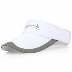 fehér - Divat tenisz sportok állítható sapka napellenző golf sapka fejpánt kalap strandvizor
