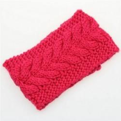 Rózsa - Női horgolt fejpánt kötött virág hajpánt fülmelegítő téli fejfedő divatos