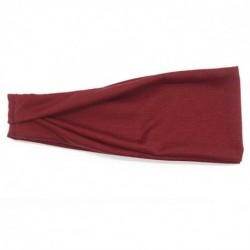 Sötét vörös - Férfi széles fejpánt izzadságpánt Stretch izzadás rugalmas sport jóga futás szilárd hajpánt