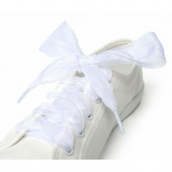 fehér - Cipőfűzők lapos selyem szatén szalag sportcipő csipkék cipők cipő cipők íj meleg
