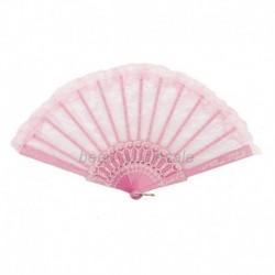 Rózsaszín - Dame Eleganter kínai kinézet Flgel-Chun-Art-Tanzen-faltender Spitze-Handfächer