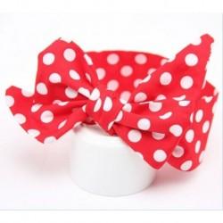 * 5-Piros Pont - Aranyos gyerek lány baba kisgyermek íj fejpánt hajszalag kiegészítők divatos fejfedők