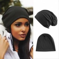 Fekete - Női férfiak kötött téli meleg sí horgolt slouch kalap sapka sapka túlméretes unisex
