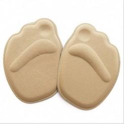 Khaki - 1Pair Medical Metatarsal puha párnák a nők lábfejének csúszásgátló fit magas sarkú meleg