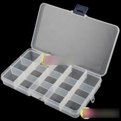 Állítható 15 rekesz műanyag tároló doboz