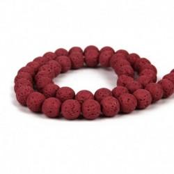 Piros - Válasszon színt! Természetes láva drágakő kerek laza gyöngyök 6/8 / 10mm ékszerek készítéséhez