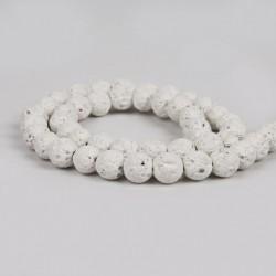 fehér - Válasszon színt! Természetes láva drágakő kerek laza gyöngyök 6/8 / 10mm ékszerek készítéséhez