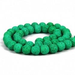 Zöld - Válasszon színt! Természetes láva drágakő kerek laza gyöngyök 6/8 / 10mm ékszerek készítéséhez