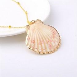8 * - Női kagyló kagyló nyaklánc nyári nyaklánc kagyló óceán tengerparti medál ékszerek