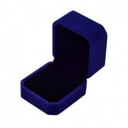 Kék - Gyémánt gyűrűs doboz fehér színes bársony ékszerek ajándék esküvői ajánlat eljegyzés