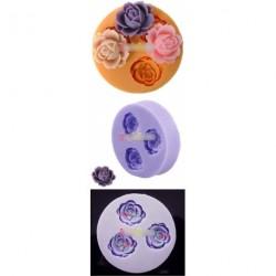 4 adagos Rózsa alakú szilikon forma - csokoládéforma - fondant forma