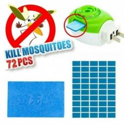 Nincs szín - 72x szúnyogriasztó rovarcsípés szőnyegtabletta utántöltő Cserélje ki a pesti riasztót
