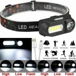 Nincs szín - XPE COB LED fényszóró USB újratölthető zseblámpa Mini fényszóró fejlámpa zseblámpa