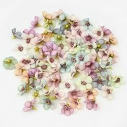 Színkeverés - 50x mini selyem mesterséges százszorszép virágfej esküvői lakberendezési barkács kézműveshez
