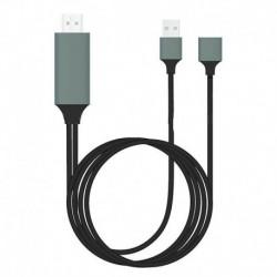 Szürke és fekete - 1080P HDMI tükröző kábel-TV HDTV adapter iPhone iPad Android készülékhez