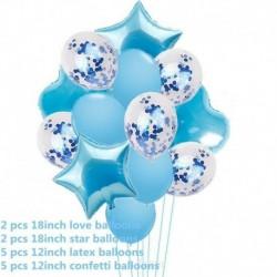 kék - 14db / készlet Esküvői születésnapi lufik Latex fóliagömbök Gyerek fiú fiú baba