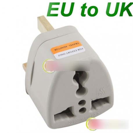 AU EU UK 3 Pin Travel Adapter töltő konverter