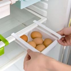 fehér - Rack polctartó csúszó konyhai hűtőszekrény fagyasztó helytakarékos szervező tároló doboz