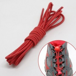 Piros - Rugalmas csipkék zár cipőfűzők Futó triatlon sportcipő edző Nincs nyakkendő fűző
