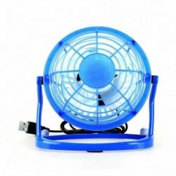 Kék - Mini hordozható USB asztali ventilátor Kis, csendes, személyes hűtő USB-vel működő asztali ventilátor